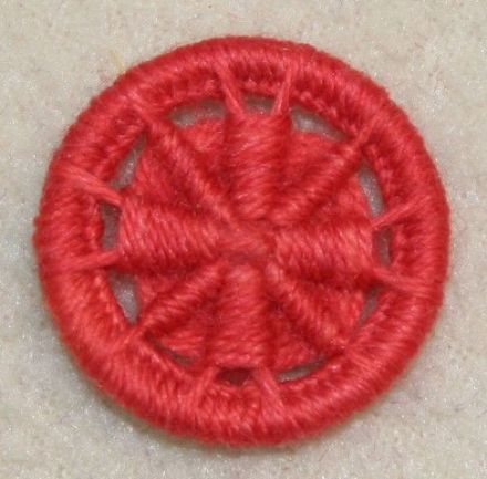 Dorset Button Kit - Templar Cross, Burnt Orange